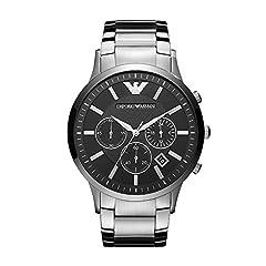 Idea Regalo - Emporio Armani Cronografo argento/nero