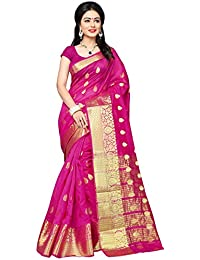 Indian Fashionista women's silk saree with blouse piece (NRPT1129C_Pink_Free Size)