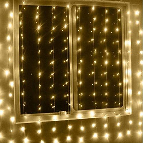 Eletam Fee Vorhang Lampe Super helle LED-EIS-Schnur-Licht-Garten dekorative String-Lampe Weihnachten Hochzeit Dekor