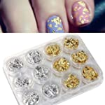 Ularmo 12 pi�ces Nail Art Or Argent P...
