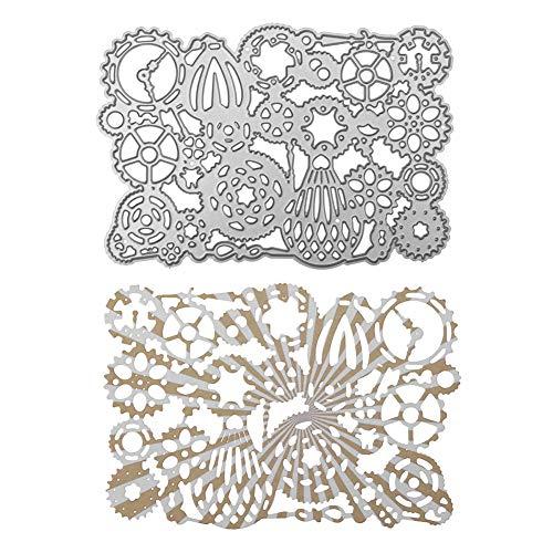 holitie Stanzschablone Stanzformen DIY Scrapbooking Schablonen Embossing Paper Cards Prägeschablonen Stencil Dekorative,für Sizzix Big Shot und andere Handwerk Stanzmaschine -
