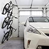 PerGrate 3 PC da parete per bicicletta con pedale in acciaio, supporto per pneumatici e supporto per sospensione