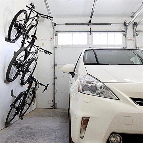 Pergrate Juego de 3 Bicicleta Soportes Pared