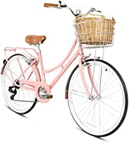 SPARTAN 26 Platinum City Bike Peach
