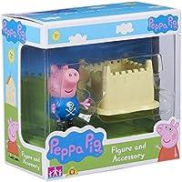Peppa Pig Figura e accessori George & Sandcastle Set - Aula Garden Set