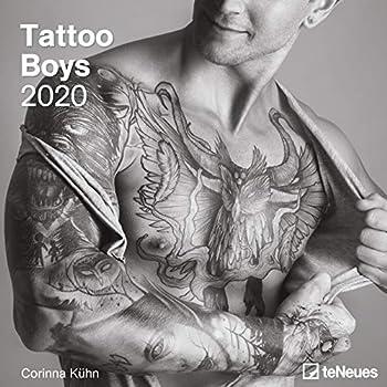 Tattoo Boys 2020 Square Wall Calendar