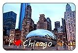 Cadora Magnetschild Kühlschrankmagnet I love Chicago I