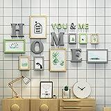 PicF Marcos de Fotos Fotos múltiples Paquete de 9 Marcos de Fotos Collage de Fotos Kit de galería de Pared para Pared y hogar (Color : Verde)