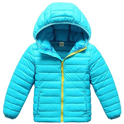 check out 96d10 ce5d8 Zoerea Piumino Invernale Piumino per Ragazza Giacca Bambina Impermeabile  Piumino Lungo Cappuccio Cappotto Bambina Snowsuit per Bambini
