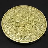 TWIFER Gold Gedenkmünze Mexican Maya Kalender Vergoldete Münzen Sammlung (38mm, Gold)