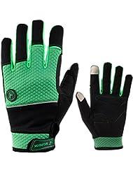 Guantes de invierno de bicicleta, para pantalla táctil, impermeables, calientes, antideslizantes, guantes para hombre y mujer, color verde, tamaño large