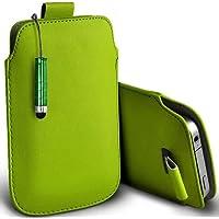Verde Shelfone–Protezione in pelle con linguetta per Blackberry Curve 8310(L) pennino capacitivo