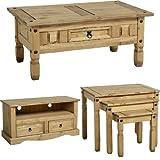 Mercers Furniture Corona 2-Drawer Flat Screen TV Unit - Pine