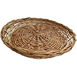Ekan Round Wooden Basket Hotels, Restaurant Table Decor For Rotis, Chapatti Serving Tray 40 Grams, Pack Of 1