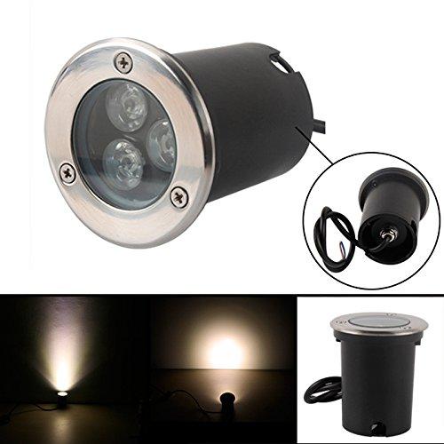 3W LED Foco de suelo Foco Blanco Cálido 230V AC IP67resistente al...