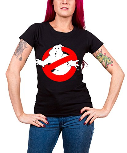 T-shirt Ghostbusters Distressed Logo vintage maglia Donna (XL)