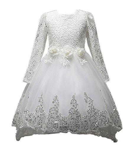 Beunique@ Kleines Mädchen Prinzessin Kostüm Lace Blume Hochzeit Bankett Party Kleid (Mädchen Assistenten Kostüme)