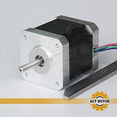 ACT Motor GmbH 1 Stück Nema17 Stepper Motor Schrittmotor 17HS5425 2.5A 48mm 48N.cm CNC 3D RepRap Prusa