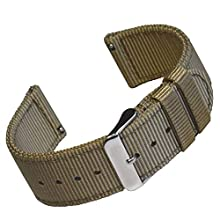 Holdfast NATO Watch Strap. 20mm Quick Release Watch Strap. 20mm Brown Watch Strap with Stainless Steel Buckle. 20mm Brown Nylon Watch Strap. Military Style Watch Strap. 20mm Watch Strap