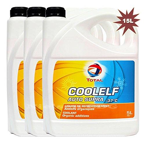 Totale Coolelf auto Supra Ready mix refrigerante antigelo 37°C 3x litri = 15lit