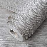 Silbernes metallisches Vinyl Grasscloth-Tapeten-Rollen-Schlafzimmer-Beschaffenheiten PVC-Wand-Papier, das Tapeten speist, A
