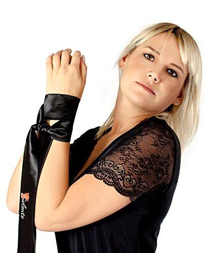 Selente verführerisches 3-teiliges Damen Dessous-Set aus Korsett mit Strapshaltern, String und exklusiver Satin-Augenbinde made in EU, weiß, Gr. S/M - 6