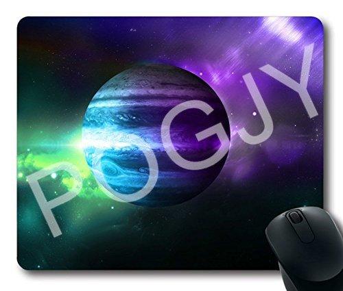 POGJY Gaming Mauspad 7 x 8 Inches, Mousepad, Verbessert Präzision und Geschwindigkeit, Gummiunterseite für Stabilen Halt auf Glatten Oberflächen, Rutschfest, Strapazierfähig Schwarz - Jupiter image 62