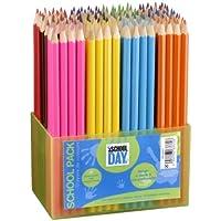 Jpc Créations Schoolpack 363372 - Set di pastelli, 144 pezzi, colori assortiti