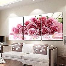 Cuadros tripticos de flores modernas Cuadros tripticos modernos para comedor