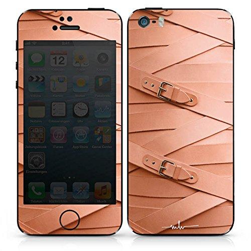 Apple iPhone SE Case Skin Sticker aus Vinyl-Folie Aufkleber Leder Fashion Schnallen DesignSkins® glänzend