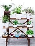 Holz Blumenregal ---- Massivholz Ländlichen Blumenregale Drei Schichten Balkon Blumentopf-Rack Wohnzimmer Blumentopf-Rack Fußbodenart Einbauschränke --- Bitte beachten Sie die Beschreibung ( größe : 96cm )