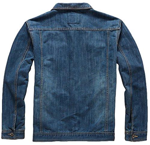 Sawadikaa Homme Classique Denim Blouson Trucker Veste en Jean Manche Longue Coton Jacket 7025