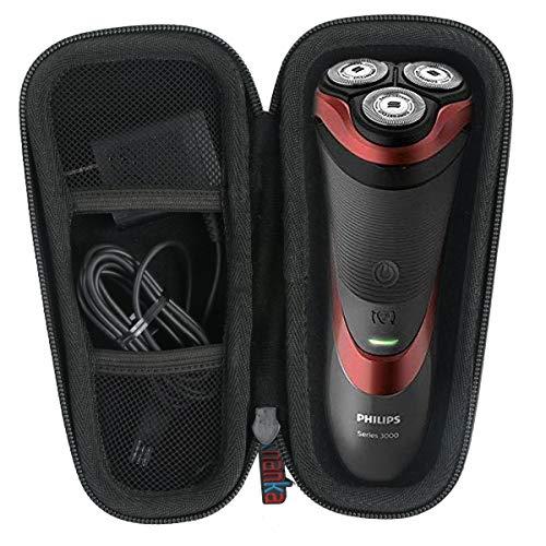 pour Philips AT750/20 S3510/08 AT890/20 PT739/20 rasoir électrique Dur Cas étui de Voyage Housse Porter by Khanka (For series 3000/ AT899, Black zipper)
