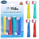 Childrens Oral B Replacement Toothbrush Heads 4 Pack Kids Electric Toothbrush Heads Childs Toothbrush Heads Replacement Toothbrush Heads Kids by Milos