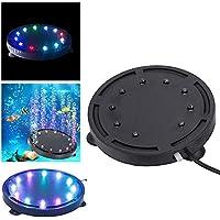 Yakamoz 9 LEDs Lapme Aquarium Air Bulle Étanche Lumière Colorée à Bulle d'Air Subemersible Lampe de Décoration Pour Aquarium Air Bubble Lamp 10.5cm