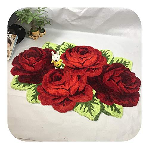 Habitación del bebé alfombras | Rose se reúne la Manta Alfombra de la Sala Rosa Rojo púrpura, 110X70cm...