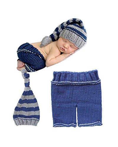 Baby Cool Kostüme (Jastore ® Foto Fotografie Prop Baby Junge Kostüm cool blau Stricken)