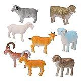 luoem 8pezzi di plastica animali della fattoria PECORA giocattolo