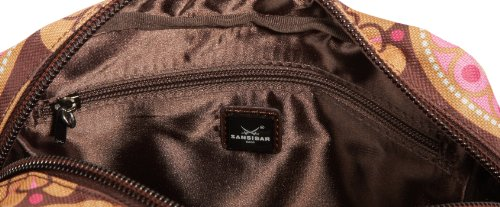 Sansibar Twister B-957 TW, Borsa a tracolla donna, 23x28x11 cm (L x A x P) Marrone (Braun (chocolate))