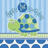 1. Geburtstag Schildkröte Blau, Bitte wählen:Servietten 33 cm - 16 Stk.