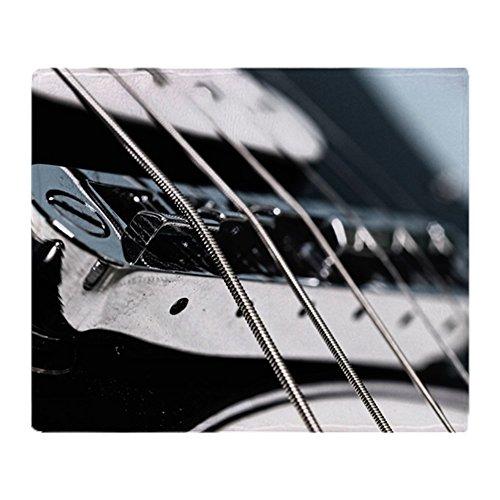 CafePress–Rock Guitar–weicher Fleece Überwurf Decke, 127x 152,4cm Stadion Decke, weiß, 50x60 (Rock Lauten)