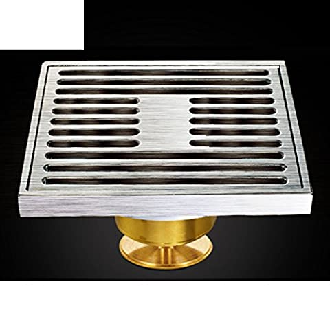 Drain de plancher grand déodorant de cuivre/Salle de bain salle de bain lave linge s'égoutter-A