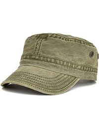 VOBOOM Washed Cotton Military Caps Cadet Army Caps Unique Design 169e8105fcea