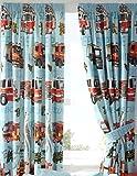 Homespace Direct Fire Motoren Jungen blau Komplett Gefüttert bereit Made Bleistiftfalten 66x 72Vorhänge New