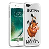 Coque iPhone 7 Plus Coque pour iPhone 7 Plus | JammyLizard | Coque transparente silicone iPhone 7 Plus, Timon & Pumba