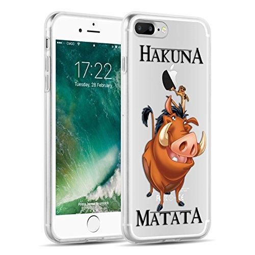 Cover iPhone 8 Plus Cover iPhone 7 Plus, JAMMYLIZARD [Sketch] Custodia in Silicone Trasparente Semi Morbido Ultra Slim con Disegno per Apple iPhone 8 Plus e Apple iPhone 7 Plus, CARTOON 7 CARTOON 6