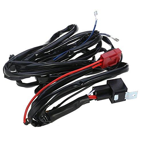 WINOMO Faisceau de câblage kit pour barre lumineuse LED 12 V 40 A fusible Relais Interrupteur on/off