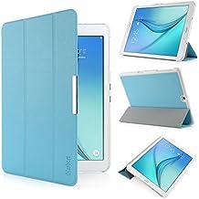 iHarbort® Samsung Galaxy Tab S2 9.7 Funda - ultra delgado ligero Funda de piel de cuerpo entero para Samsung Galaxy Tab S2 9.7 T810 , con la función del sueño / despierta (Galaxy Tab S2 9.7, azul claro)