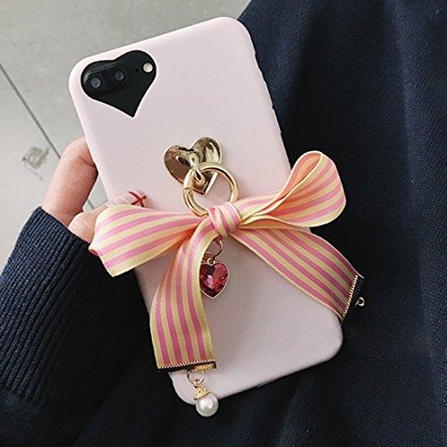 Hülle für iPhone 7 plus , Schutzhülle Für iPhone 7 Plus Bowknot Ribbon Style Soft TPU Schutzmaßnahmen zurück Fall mit Juwel Anhänger ,hülle für iPhone 7 plus , case for iphone 7 plus ( SKU : Ip7p6211y Ip7p6211y