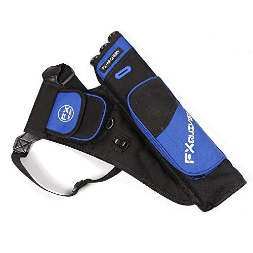Toparchery Bogensport Bogenschießen Köcher für Pfeile 3-Röhrenköcher Pfeile Halter Verstellbarer Schultergurt (Blau) - Halter Pfeil